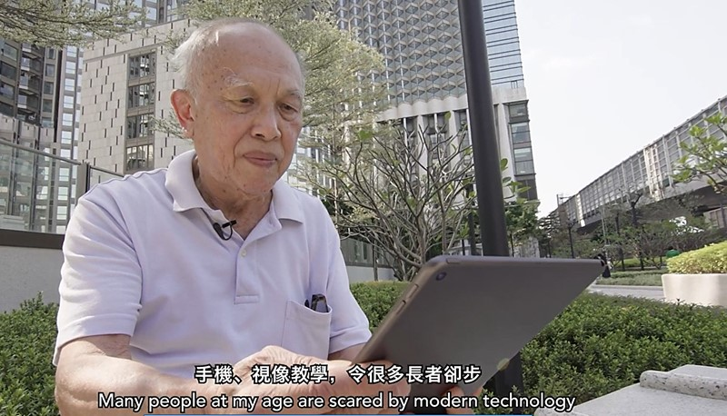 The winning video showcases some challenges in communication faced by the aging population during the pandemic.