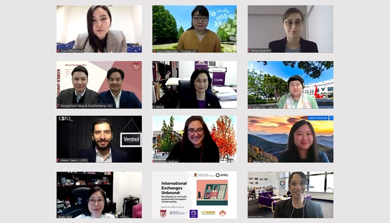 The APRU VSE co-curricular programme webinar gathers practitioners from across the Pacific Rim to share success stories and best practices in organising virtual activities for international students.