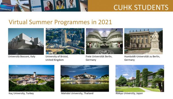CUHK students participate in an array of virtual summer programmes.