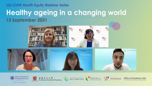 Joint webinar with UQ explores issues surrounding healthy ageing.