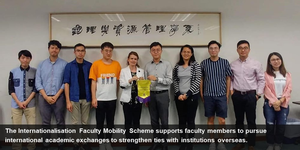 The Internationalisation Faculty Mobility Scheme supports faculty members to pursue international academic exchanges to strengthen ties with institutions overseas.