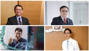 CUHK scholars gain international recognition for their outstanding achievements: Professor Rocky S. Tuan, Professor Gang Li, Professor Peiyong Jiang, and Professor Ronald Ma.