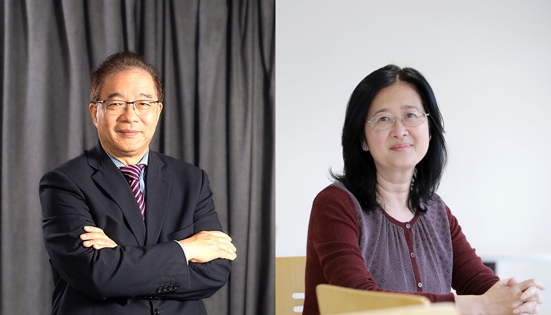 Two projects led by Professor Ling Qin (left) and Professor Nathalie Wong (right) are granted over US$18 million in the Areas of Excellence Scheme of the Hong Kong UGC.