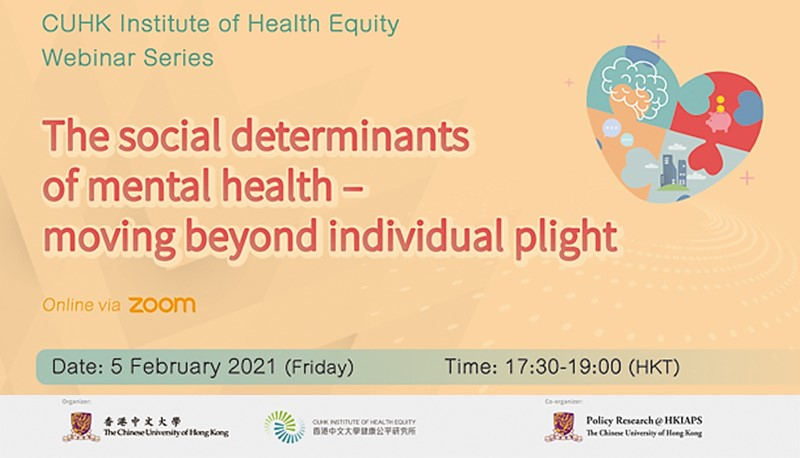 The Social Determinants of Mental Health – Moving Beyond Individual Plight