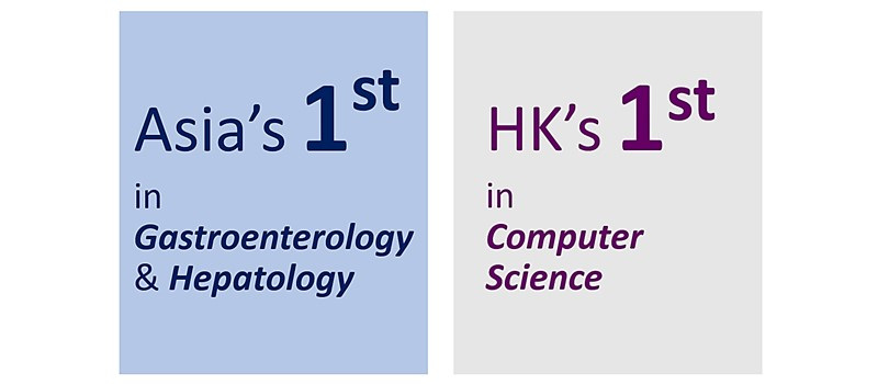 CUHK's excellence in Computer Science, and Gastroenterology and Hepatology is recognised in the Best Global Universities Subject Rankings of the US News and World Report 2021.