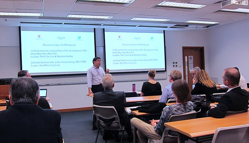 Prof. Joe Lee, Co-director of ENSURE, speaks at a joint workshop on environmental sustainability and resilience.